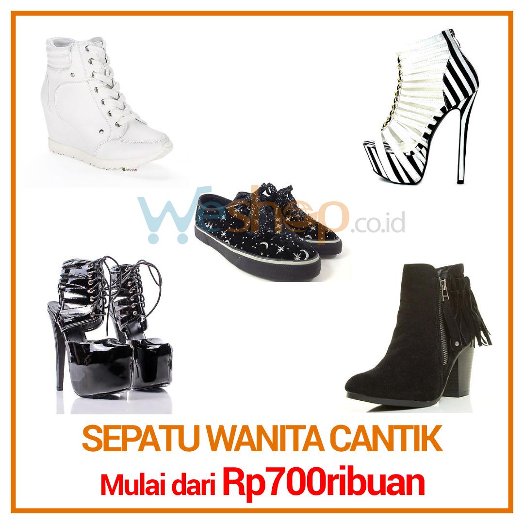 Sepatu Wanita Cantik, harga mulai dari Rp700ribuan. Beli