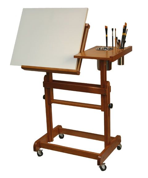 Crafttech International Inc Products Artist Sketch Table Easel Table Easel Furniture Art Easel