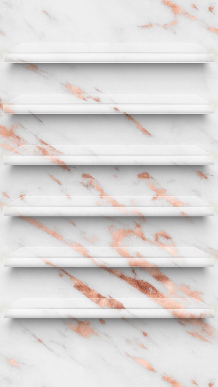 Rose Gold Marble Phone wallpapers Pinterest Rose