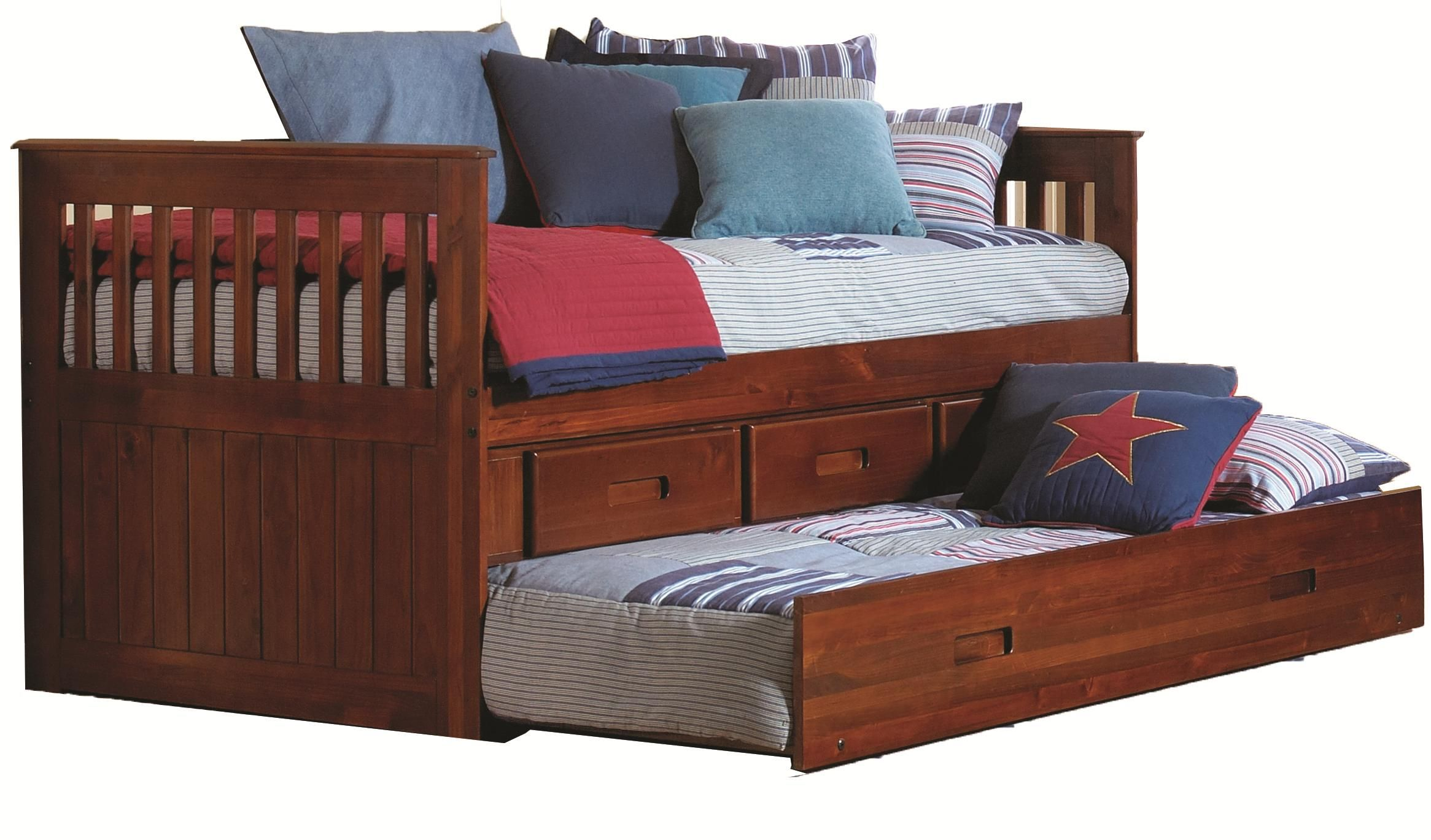 Merlot Twin Captain's Bed by Discovery World Furniture