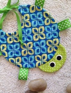 Handcrafted Quilted Turtle Bib #sewingprojects