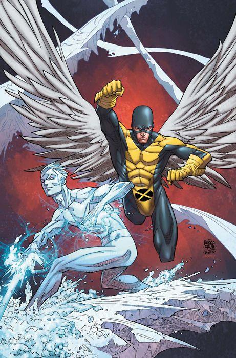 Angel Iceman Marvel Comics Art Xmen Art Comics