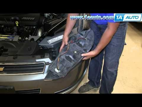 How To Install Replace Change Headlight And Bulb 2006 12 Chevy Impala You