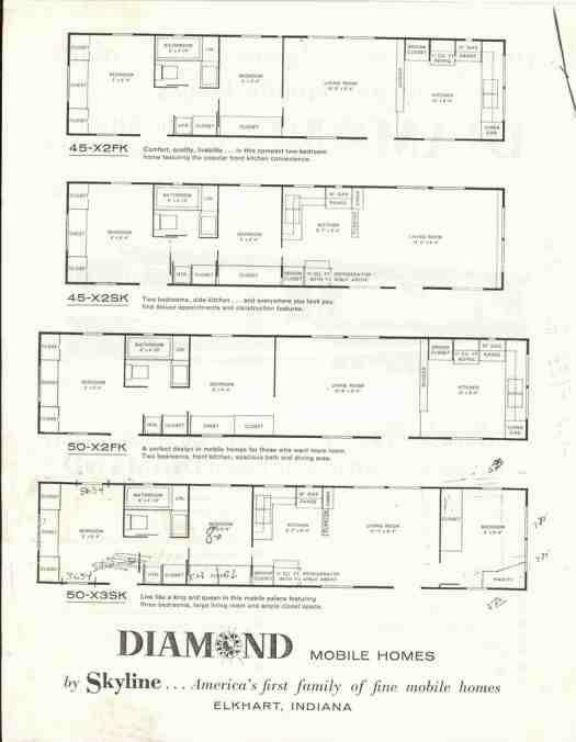 1959 Skyline Diamond 060103 Vintage Campers Trailers Vintage Trailers Tiny House Floor Plans