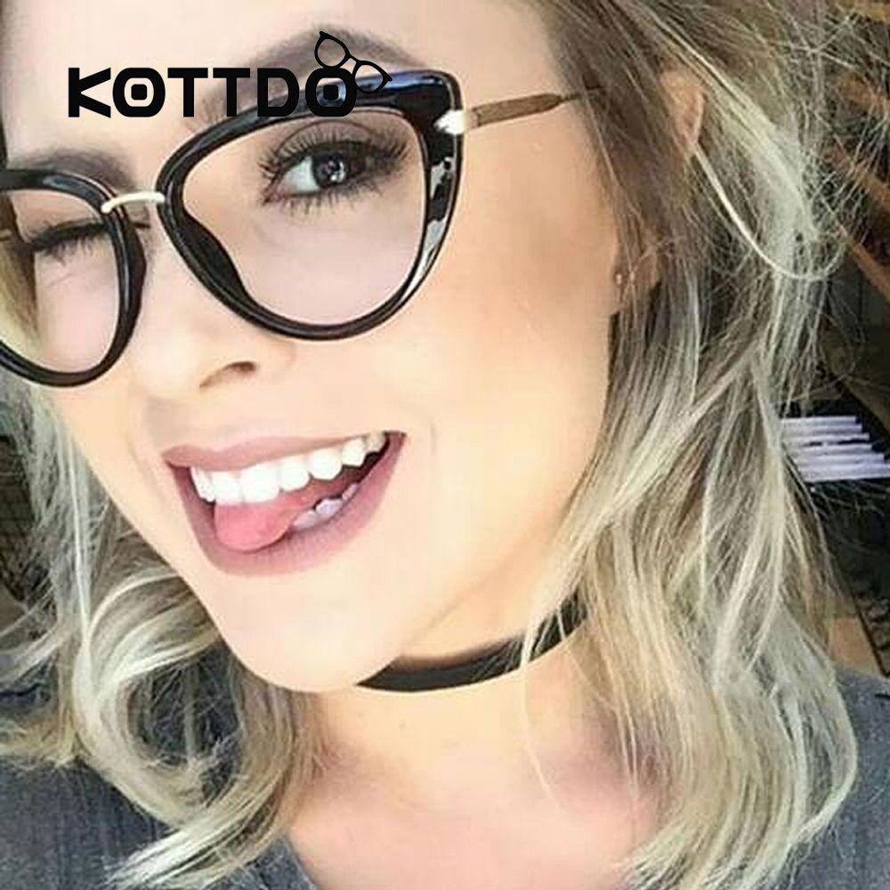 0c53ce6e09fe Metal Eyewear Cat Eye Frames Eye glasses Women Trendy Designer Glasses  Prescription Eyeglass Frame for Women Goggle Gafas De jarrebnnee Worldwide  Shipping ...