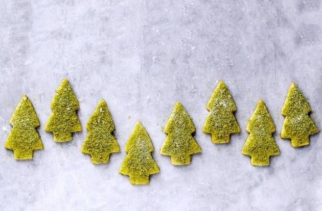 Pistace. De skønne juletræer får en smuk grøn farve fra pistacenødder. - Foto: Maja Ambeck Vase
