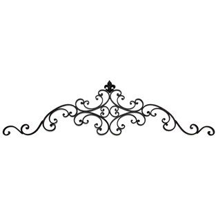 Black Metal Wall Pediment With Fleur De Lis Shop Hobby Lobby Metal Wall Art Diy Iron Wall Decor Tuscan Decorating