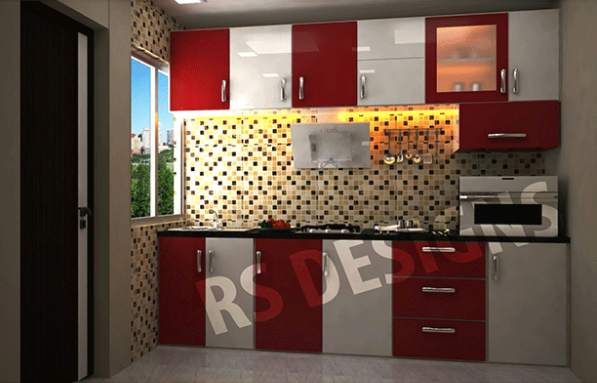 Cherry White One Wall Modular Kitchen For Quotation Call Enchanting Modular Kitchen Design Kolkata Design Inspiration
