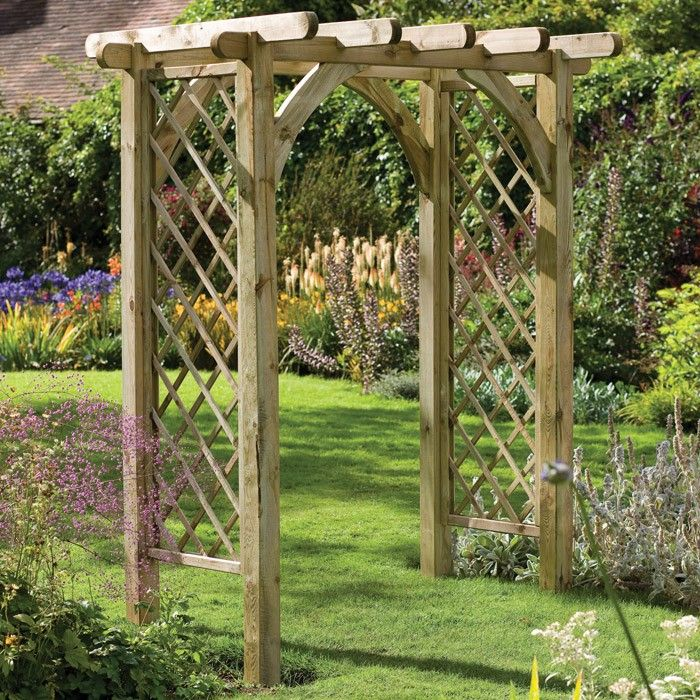 Wooden wedding arch designs forest garden ultima pergola for Garden archway designs