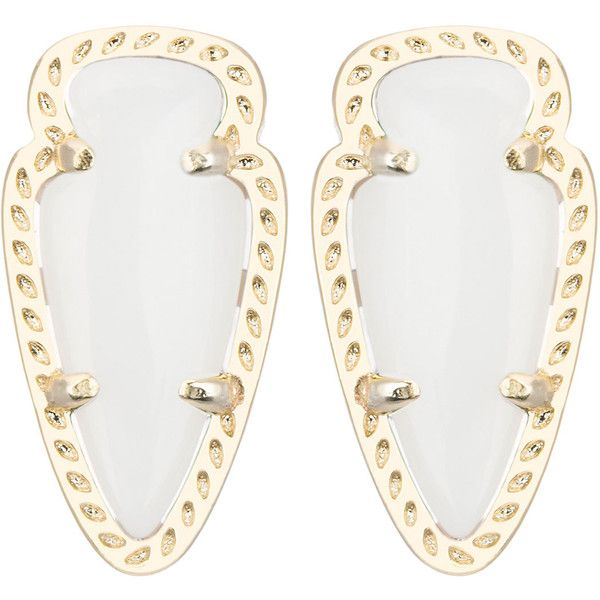Kendra Scott Skylette  Pearlescent Stud Earrings ($51) ❤ liked on Polyvore featuring jewelry, earrings, accessories, pearl, 14k pearl earrings, stud earring set, 14 karat gold stud earrings, 14 karat gold earrings and earrings jewelry