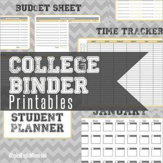 College Binder Printables: Organize Your Life   Life of a