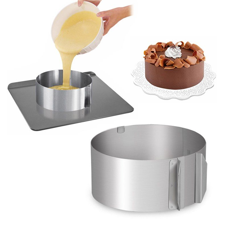 Stainless Steel Round Mold Ring Cake Circle Cookie Cutter Mousse Cake Mould Tool