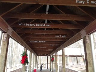 """In Beauty May I Walk"" #Navajo Prayer, painted at the Mke Cty Zoo"