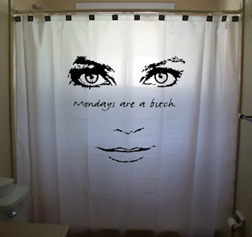 Mondays Are A Bitch Funny Shower Curtain Women Girl Men Boy Kids Bathroom Decor Bath