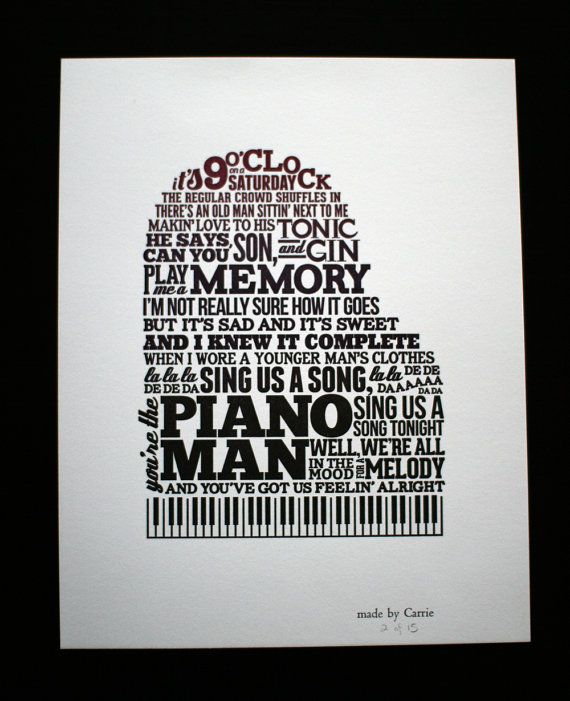 マン 歌詞 ピアノ PIANO MAN