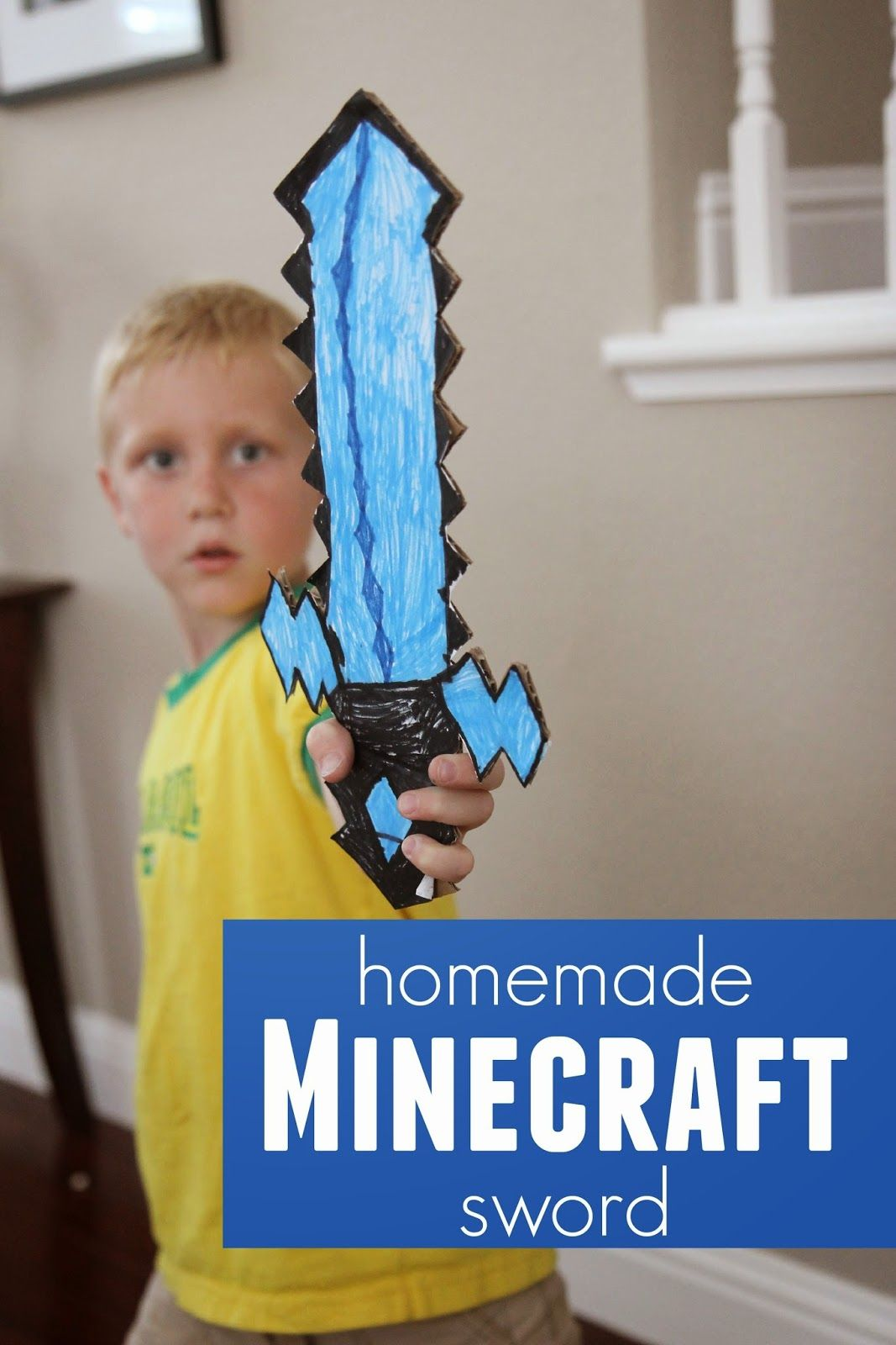 Toddler Approved!: DIY Cardboard Minecraft Sword {+ Free Printable}