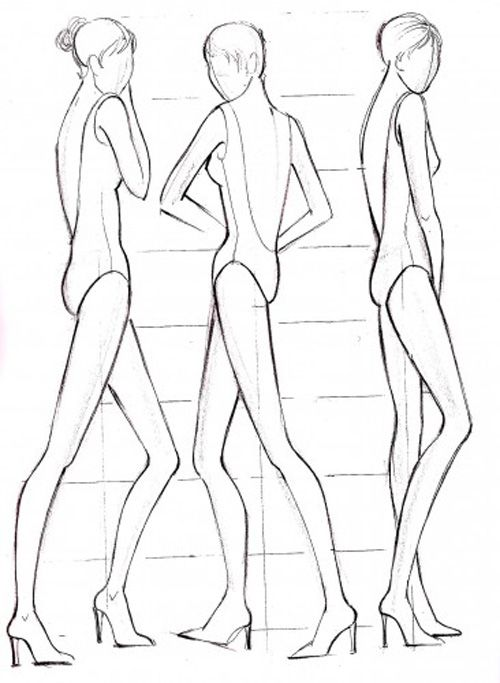 Fashion sketches body template fashion sketches body on for How to sketch clothes for beginners