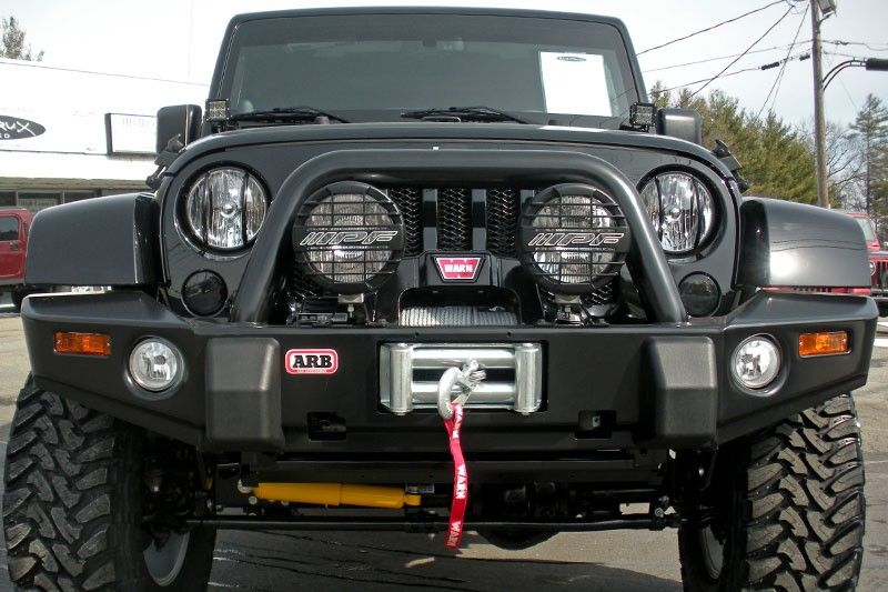 ARB 3450220 Shown on Jeep Wrangler JK with Warn 9.5 CTI Winch