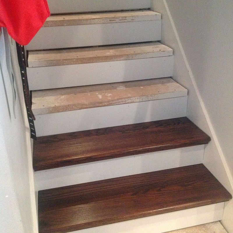 Quick And Easy From Carpet Stairs To Wood Diy Hack Diy | Redoing Stairs With Wood