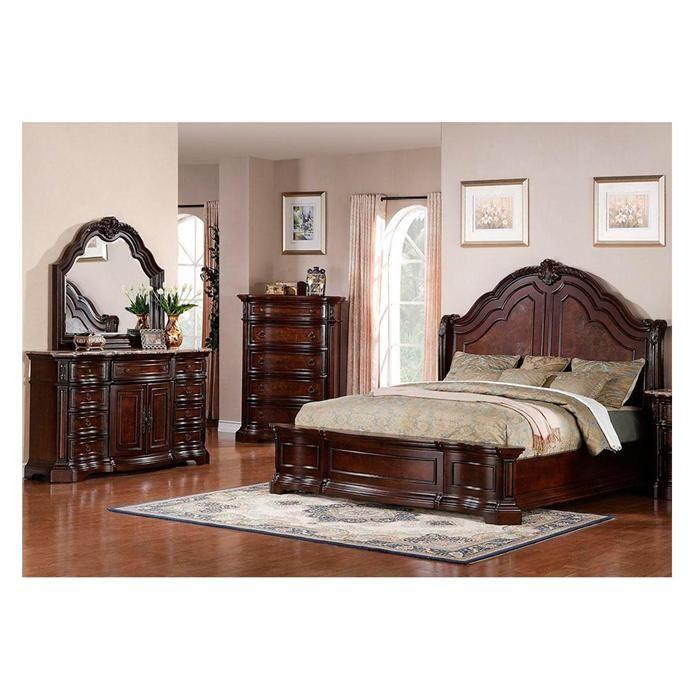 Edington 4 Piece King Bedroom Set In Cherry Nebraska Furniture