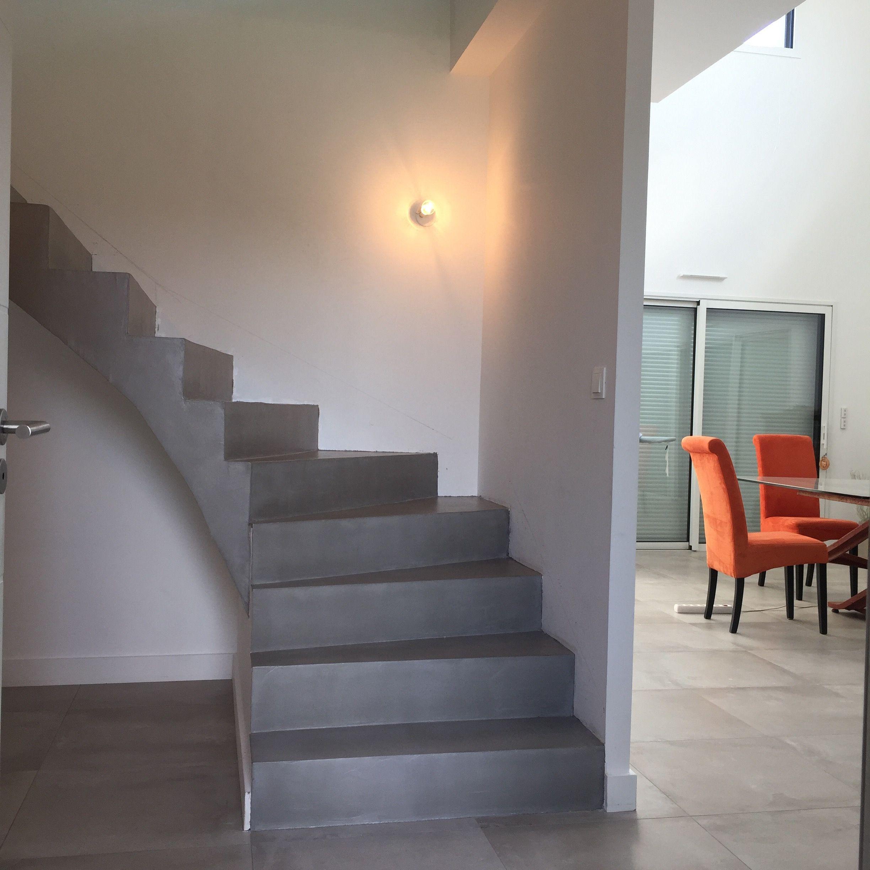 Escalier béton ciré - Nantes - NCDM | Escalier béton ciré | Pinterest
