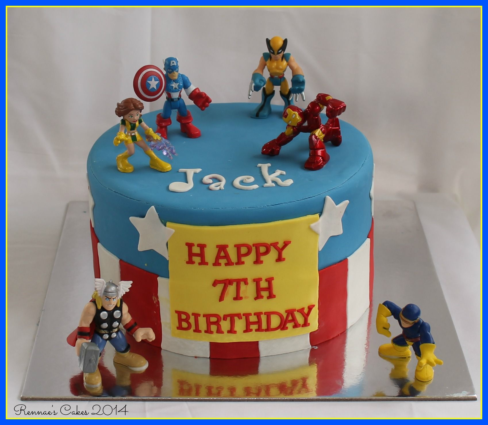 Pin of the Day Superhero Cake boys 7th birthday cake Avengers