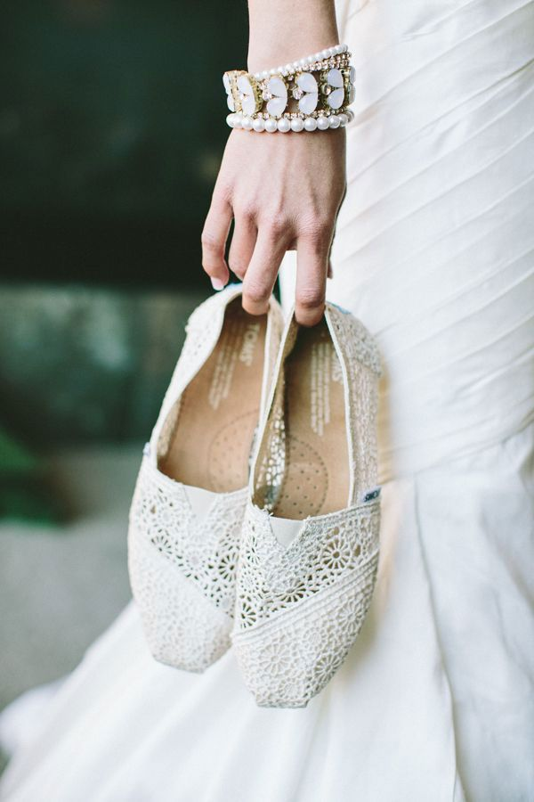 Bridal Flats Crochet Toms The Wedding Scoop Spotlight Bridal