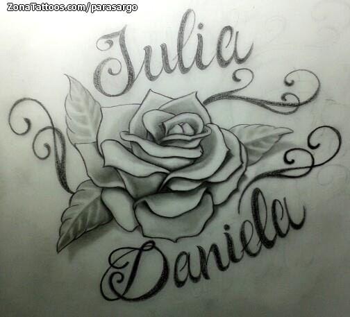 Diseno De Rosas Nombres Daniela Tattoo Quotes Tattoos Female