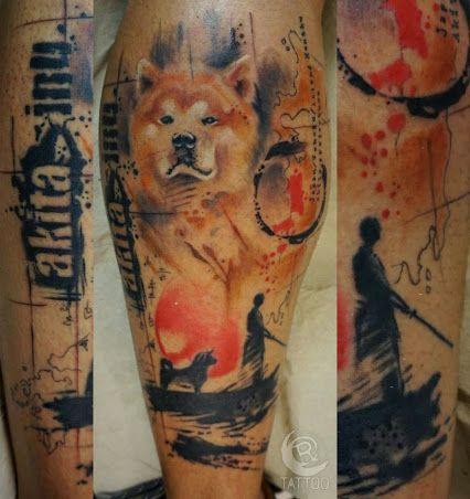 The 15 Coolest Akita Inu Tattoo Designs In The World   Tatoo