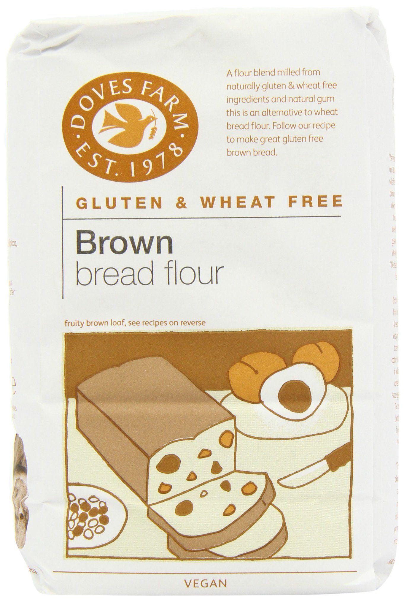 Doves farm gluten free brown bread flour 1 kg pack of 5