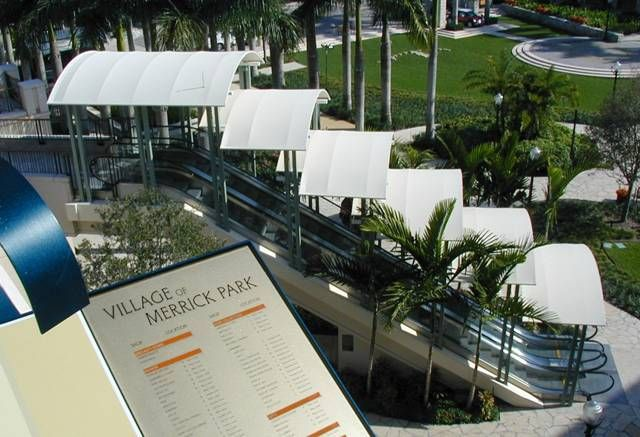 Shopping Malls Commercial Awnings And Canopies Csi 107313 And Csi 107316 From Miami Awning Company Awnings Canopie Shopping Malls Merrick Park Escalator