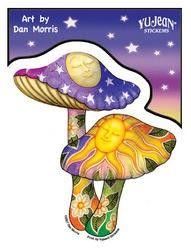 Psychedelic Mushrooms Sticker - $4.00
