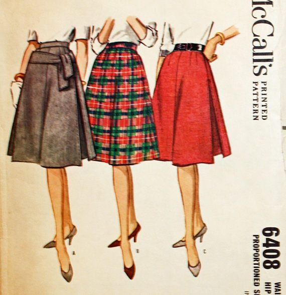 Vintage 1960s Sewing Patten McCall's 6408 Proportioned