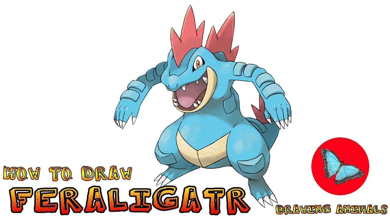 How To Draw Feraligatr Pokemon Pokemon Drawings Pokemon