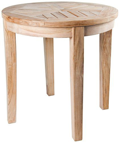 This Classic Style, Solid Teak Round Side Table Is Designed With Beautiful  Workmanship Featuring A Triple Sanded Design That Brings Its Own Teak Oil  To Coat ...
