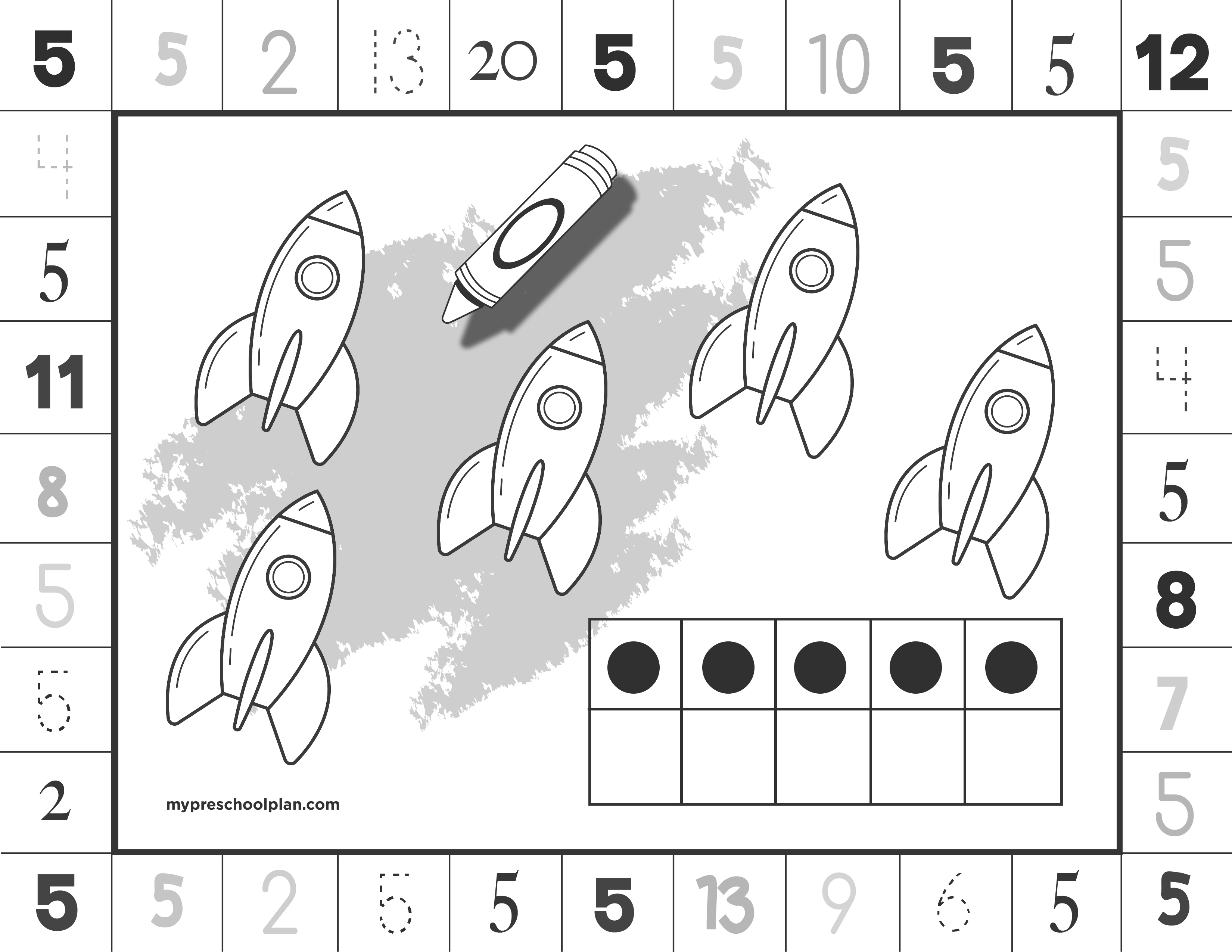 Numbers Print And Punch Worksheets My Preschool Plan Preschool Planning Preschool Math Worksheets Preschool Math [ 2550 x 3300 Pixel ]