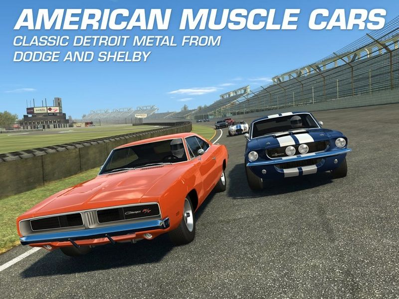Classic American Muscle Cars New Real Racing 3 Update Brings