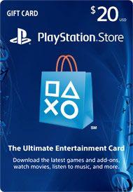 PlayStation Store Gift Card | $10, $20, $50, $75 or $100 at GameStop