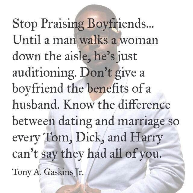 stop dating down