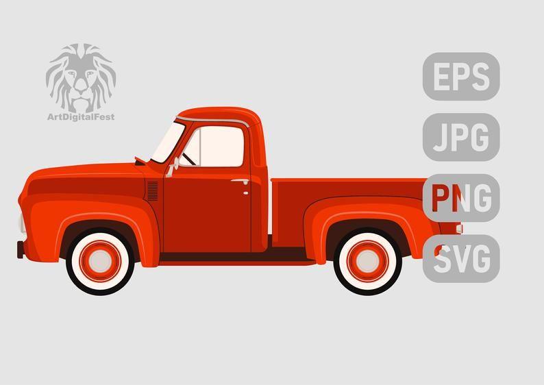 Old Red Pickup Truck Svg Etsy Red Truck Trucks Pickup Trucks