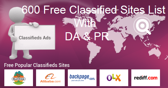 Resume Posting Sites Top Free Classified Sites List For Quick Ad Posting 600 Top Free .