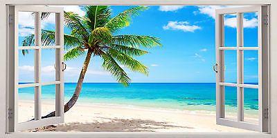 Wall Prints Poster Caribbean beach and tropical sea Photo Wallpaper Art Mural