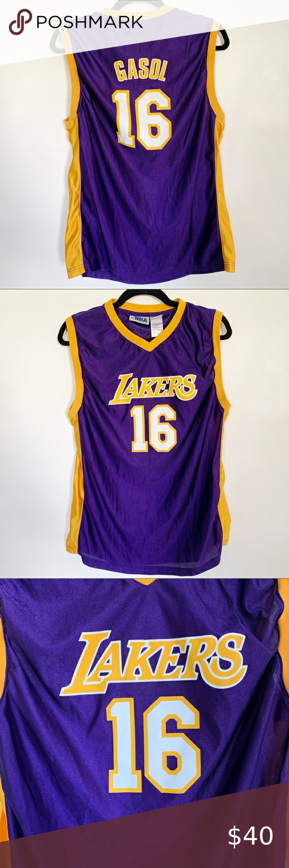 La Lakers Youth Jersey Gasol Sz Xtra Large In 2020 La Lakers Nba Shirts Jersey