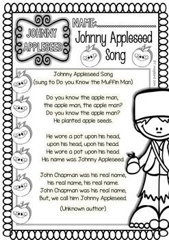 JOHNNY APPLESEED READINGS AND PRINTABLES (FUNNY SET) 50%