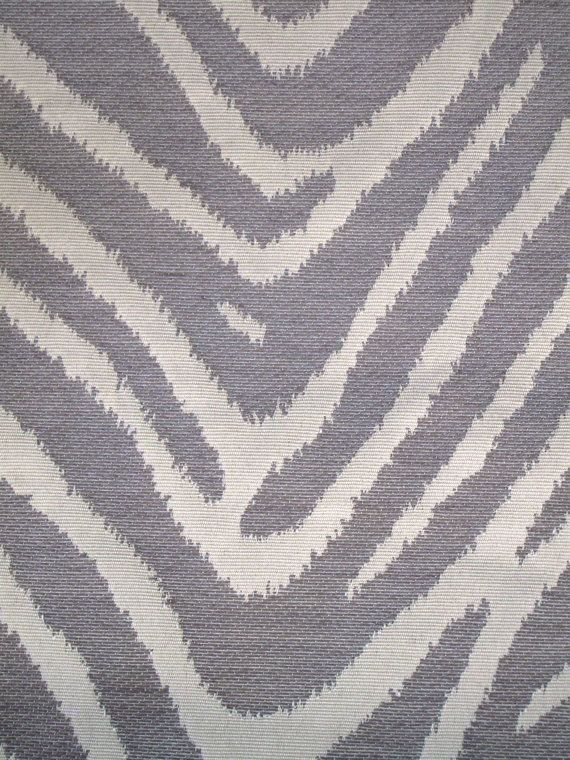 New Fabric Sold By the Yard--Classy Zebra Stripe Fabric--Gray and Off White. $34.00, via Etsy.
