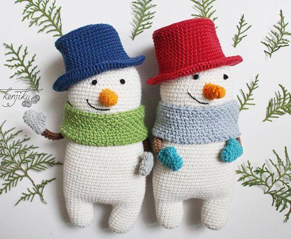 Amigurumi Snowman : Mr snowman amigurumi pattern snowman amigurumi pattern snowman