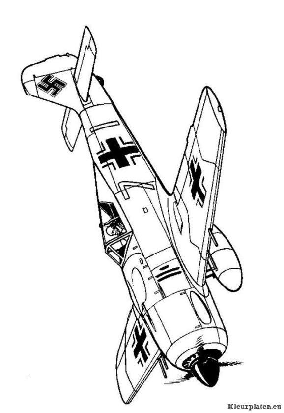 Pin By Jorick Langelaan On Coloring Airplanes Airplane Coloring Pages Wwii Aircraft Coloring Pages
