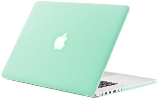 Kuzy Mint Green Rubberized Hard Case Cover For Apple Macbook Pro