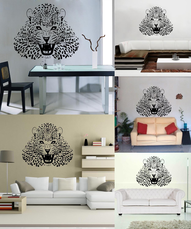 Visit To Buy 4153 Vinyl Wall Stickers Animal Cheetah Leopard