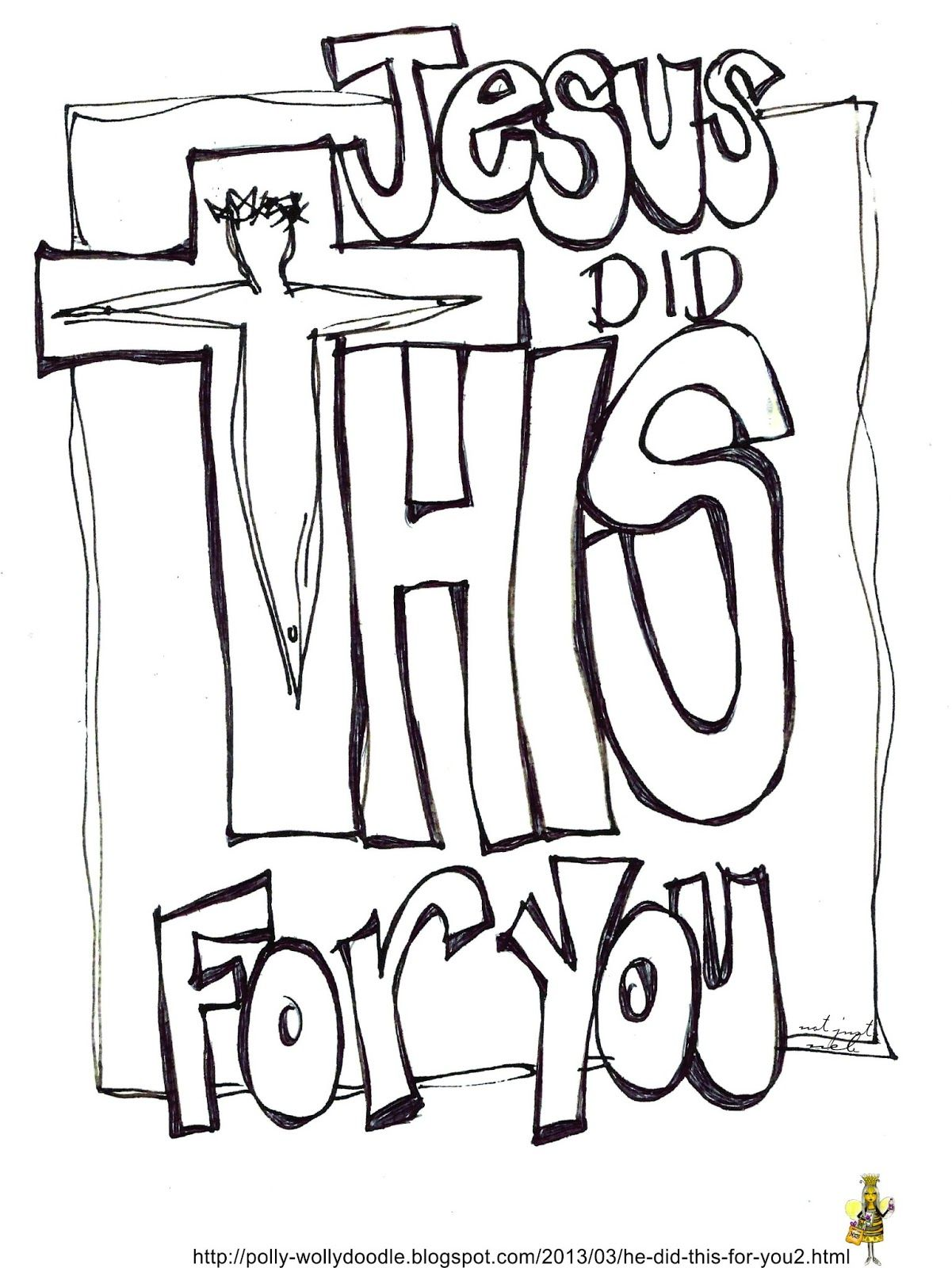 FREE PRINTABLE Jesus Did This For You... For you and/or